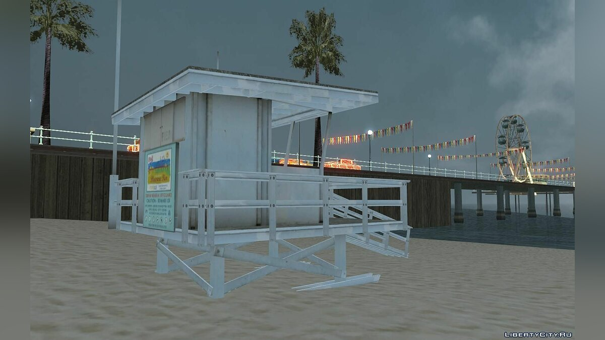 GTA V Lifeguard Tower для GTA San Andreas - скриншот #2