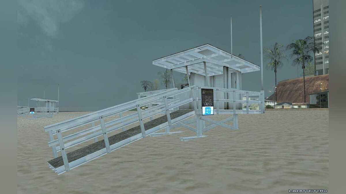 GTA V Lifeguard Tower для GTA San Andreas
