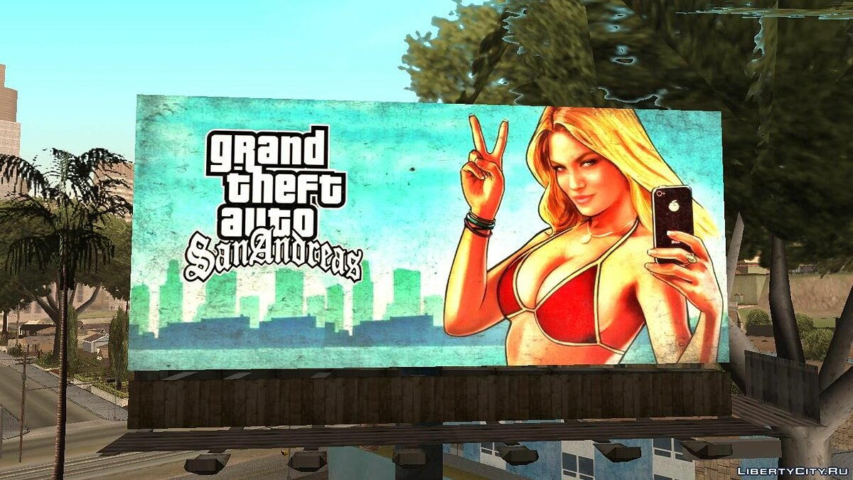 GTA 5 Girl Poster billboard для GTA San Andreas