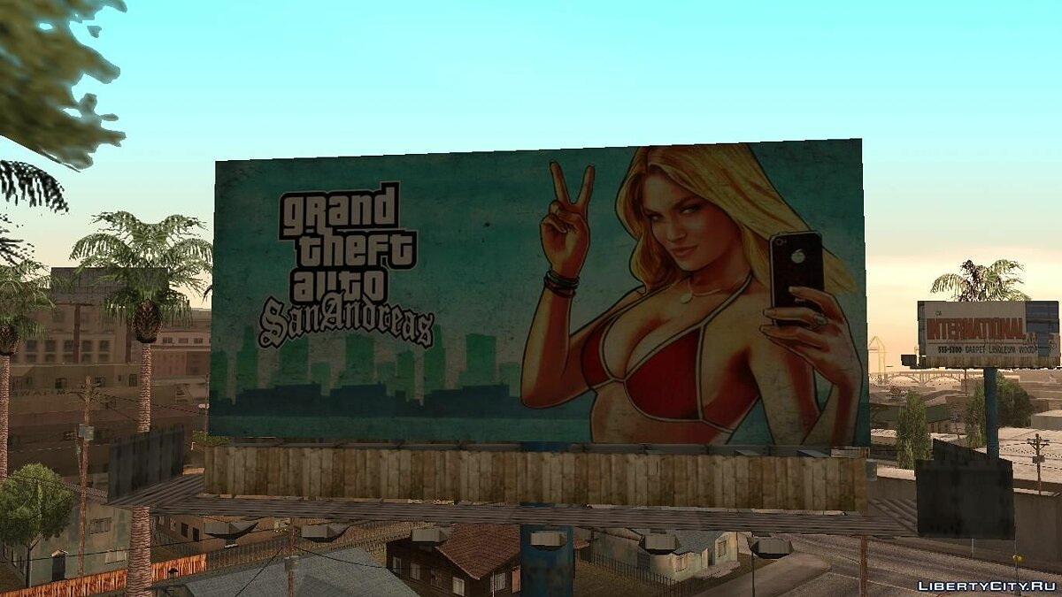 GTA 5 Girl Poster billboard для GTA San Andreas - скриншот #2