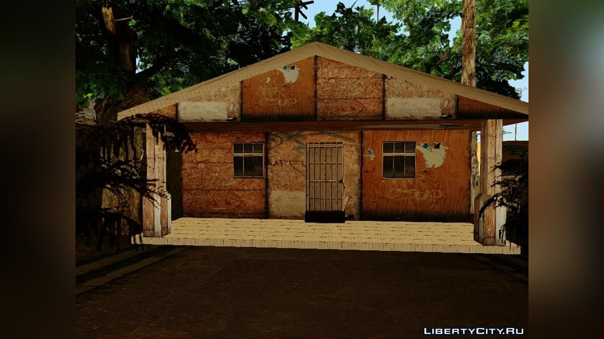 Gangton Houses RETEXTURED для GTA San Andreas