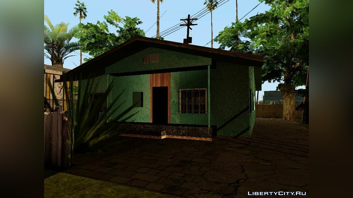 Gangton Houses RETEXTURED для GTA San Andreas - скриншот #3