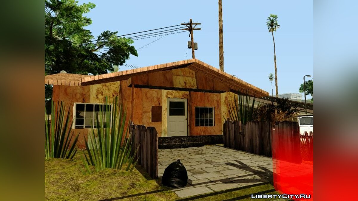 Gangton Houses RETEXTURED для GTA San Andreas - скриншот #7