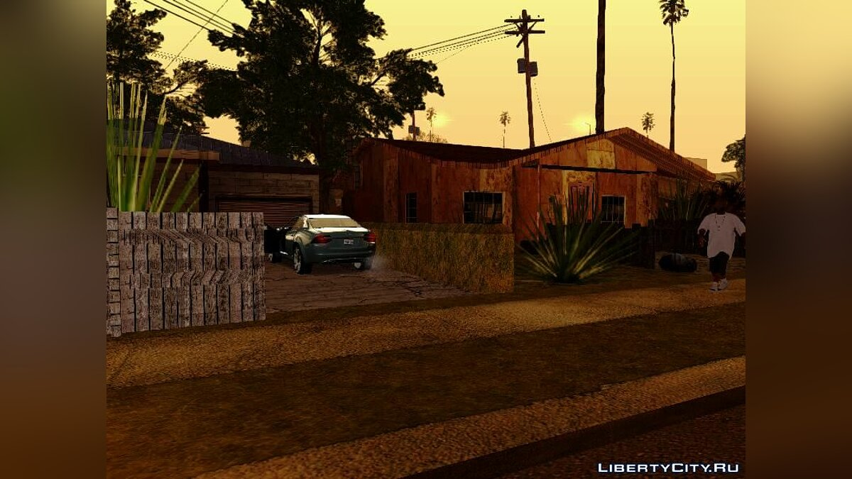 Gangton Houses RETEXTURED для GTA San Andreas - скриншот #8