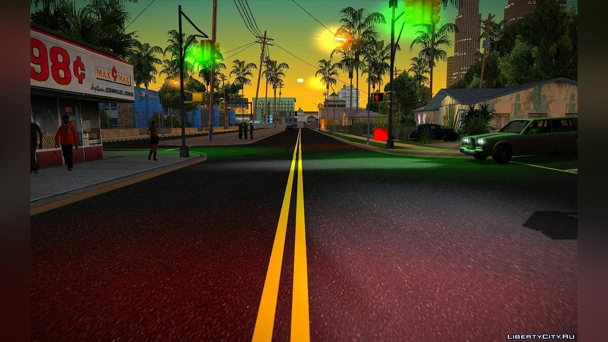 Текстурный мод New Roads for GTA San Andreas для GTA San Andreas