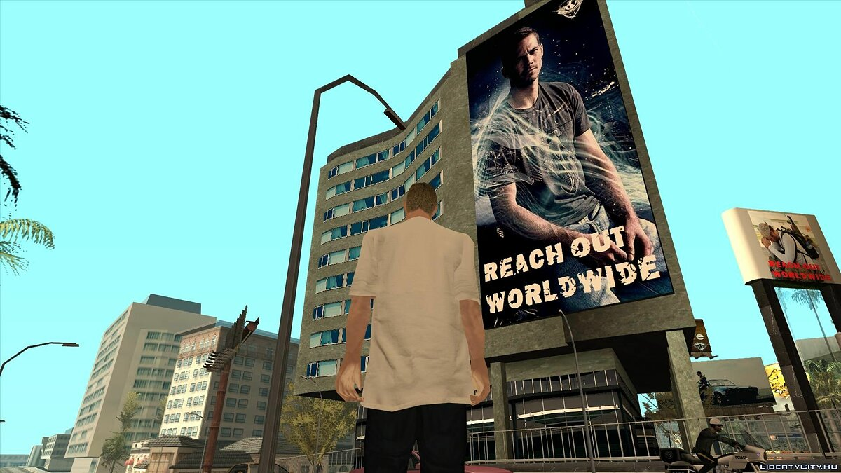 Текстурный мод LS Paul Walker Foundation для GTA San Andreas