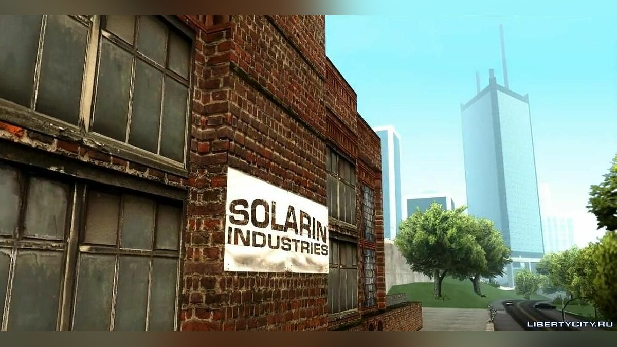 HQ Textures San Fierro Solarin Industries для GTA San Andreas