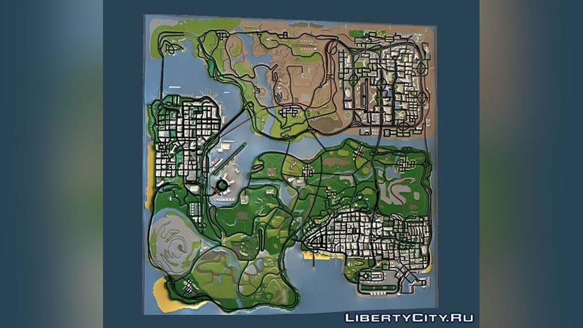 Текстурный мод INSANITY HD Radar Map для GTA San Andreas