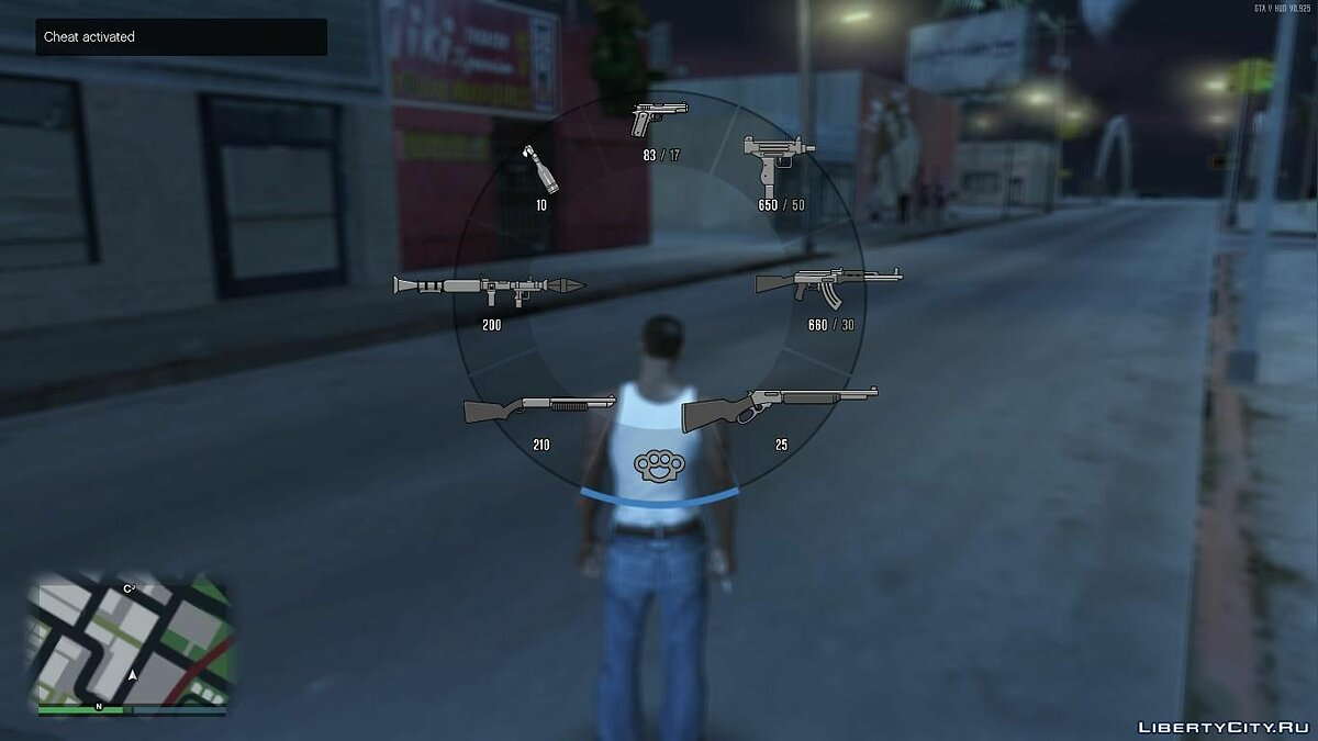 GTA V HUD SA Ingame Weapons In V Style Weapons Icons для GTA San Andreas