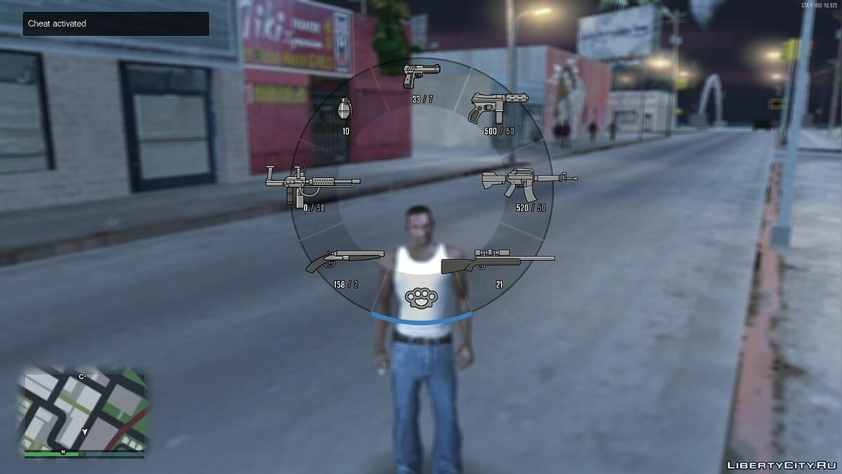 GTA V HUD SA Ingame Weapons In V Style Weapons Icons для GTA San Andreas - скриншот #3