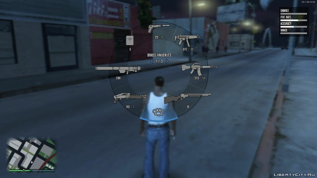 GTA V HUD SA Ingame Weapons In V Style Weapons Icons для GTA San Andreas - скриншот #2