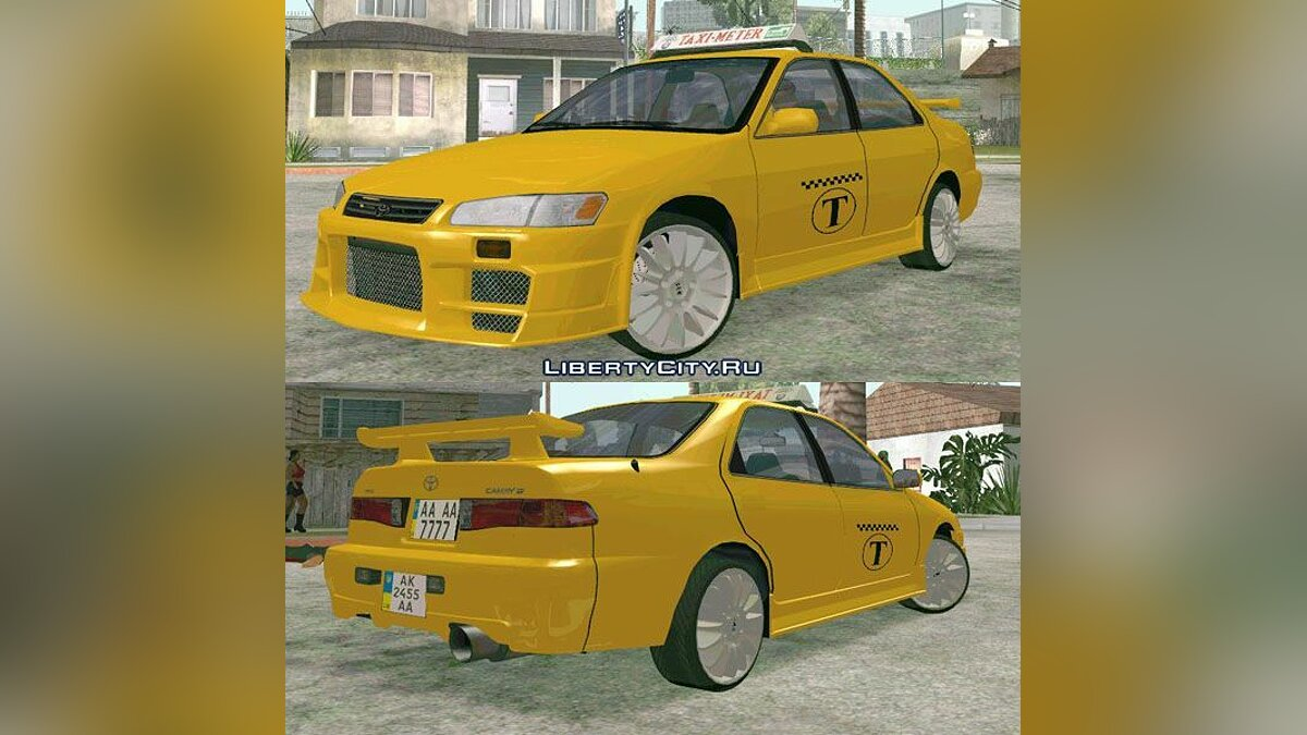 Toyota Camry Taxi для GTA San Andreas