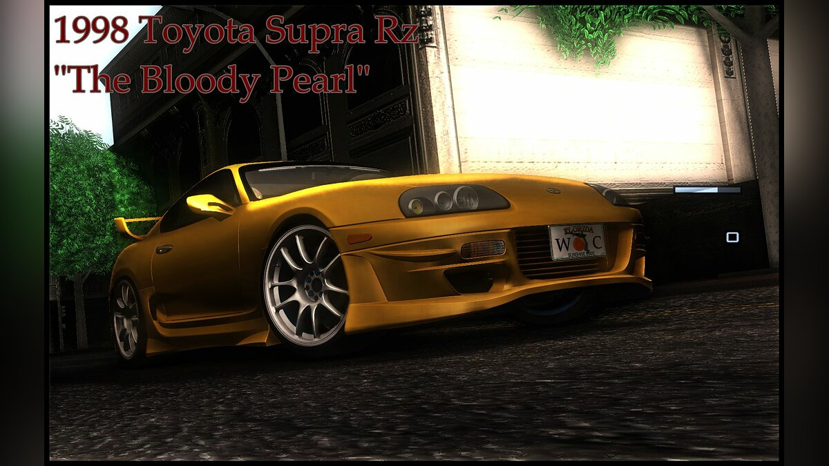 1998 Toyota Supra Rz The bloody pearl для GTA San Andreas