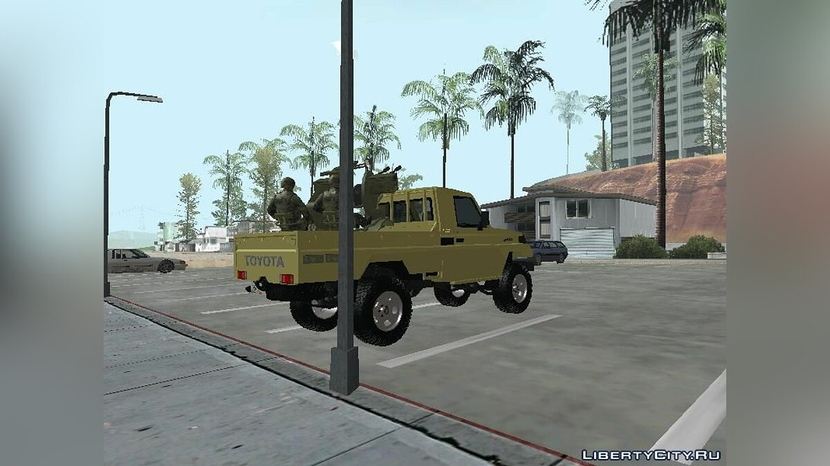 Toyota Land Cruiser Army для GTA San Andreas - скриншот #4