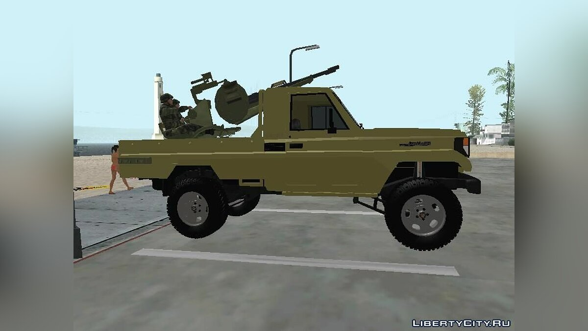Toyota Land Cruiser Army для GTA San Andreas - скриншот #3