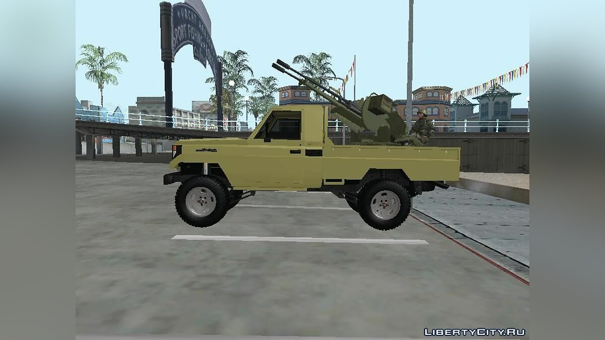 Toyota Land Cruiser Army для GTA San Andreas - скриншот #2