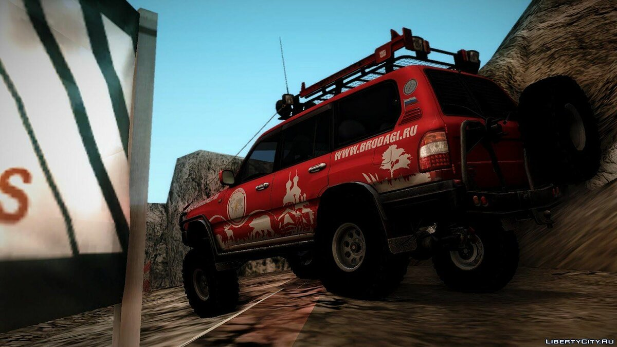 Toyota Land Cruiser 100 Off-Road для GTA San Andreas - скриншот #3