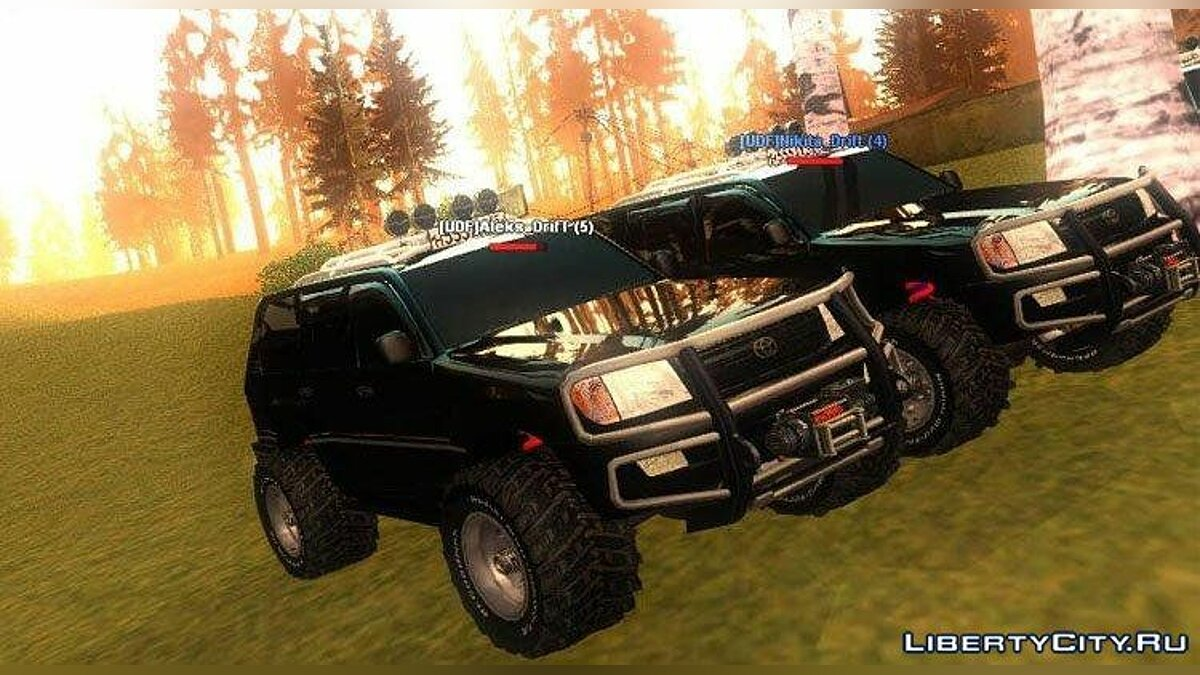 Toyota Land Cruiser v100 Off Road tuning для GTA San Andreas