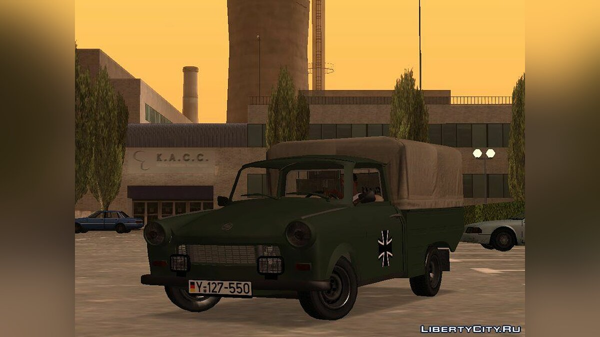 Машина Trabant Trabant 601 German Military Pickup для GTA San Andreas
