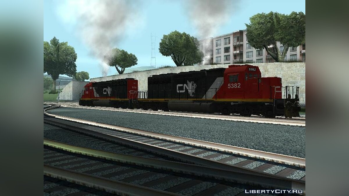 Поезд и трамвай Локомотив EMD SD40-2 Canadian National для GTA San Andreas