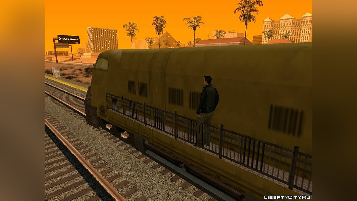 ��оезд и трамвай Yellow Locomotive from NFS Underground v 0.5 для GTA San Andreas