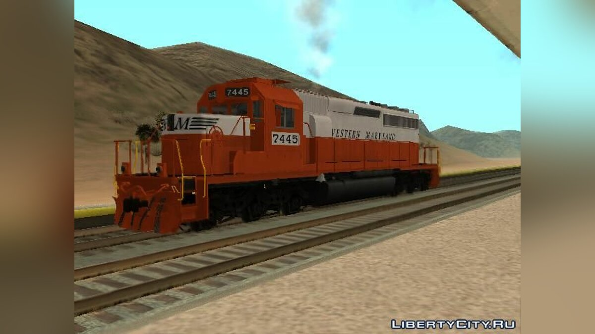 Поезд и трамвай EMD SD40-2 Western Maryland для GTA San Andreas