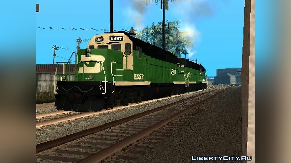 Поезд и трамвай Локомотив - EMD SD40-2 Burlington Northern для GTA San Andreas