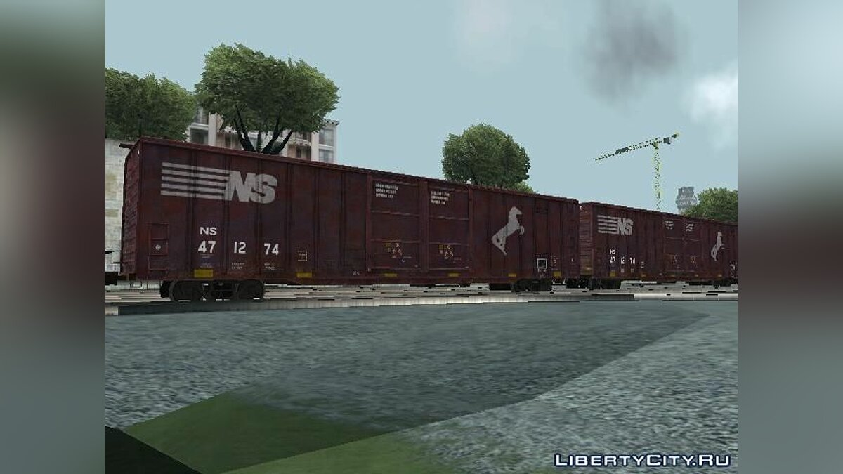 Поезд и трамвай Вагон Norfolk Southern Railroad для GTA San Andreas