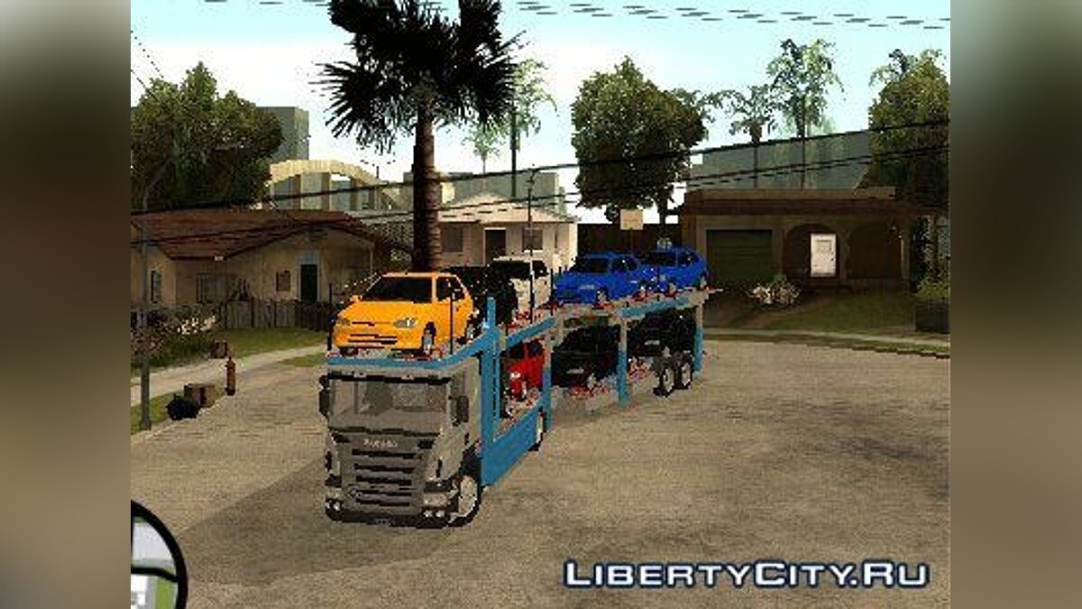 Грузовик Scania P420 Car Transporter для GTA San Andreas