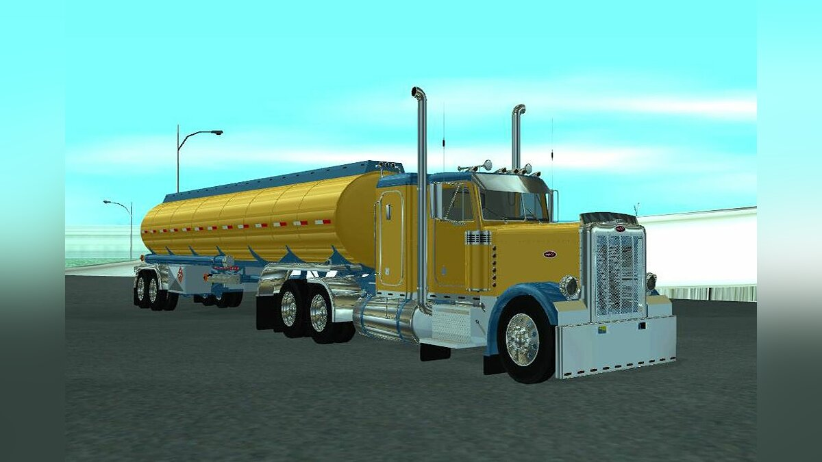 Peterbilt 379 Custom With Trailer для GTA San Andreas