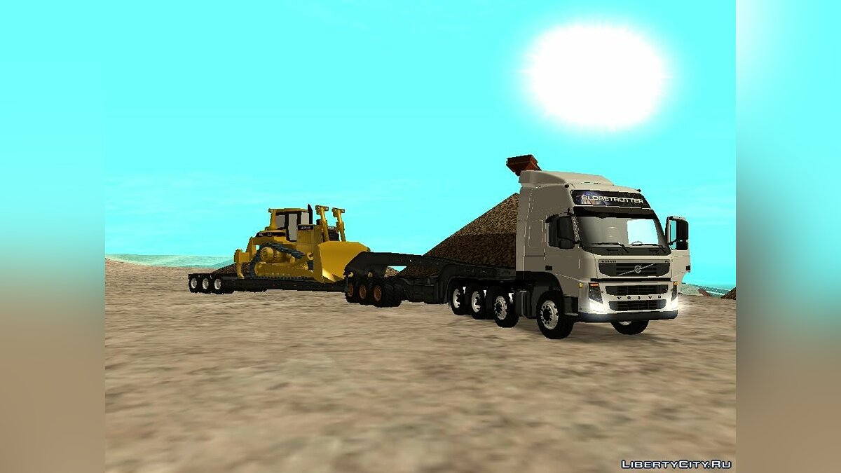 Volvo FM 13 8x4 Trailer Road Train для GTA San Andreas