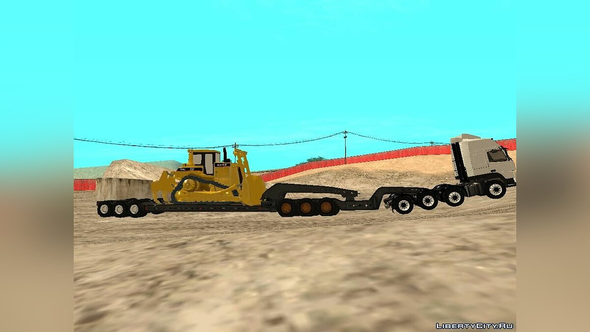 Volvo FM 13 8x4 Trailer Road Train для GTA San Andreas - скриншот #3