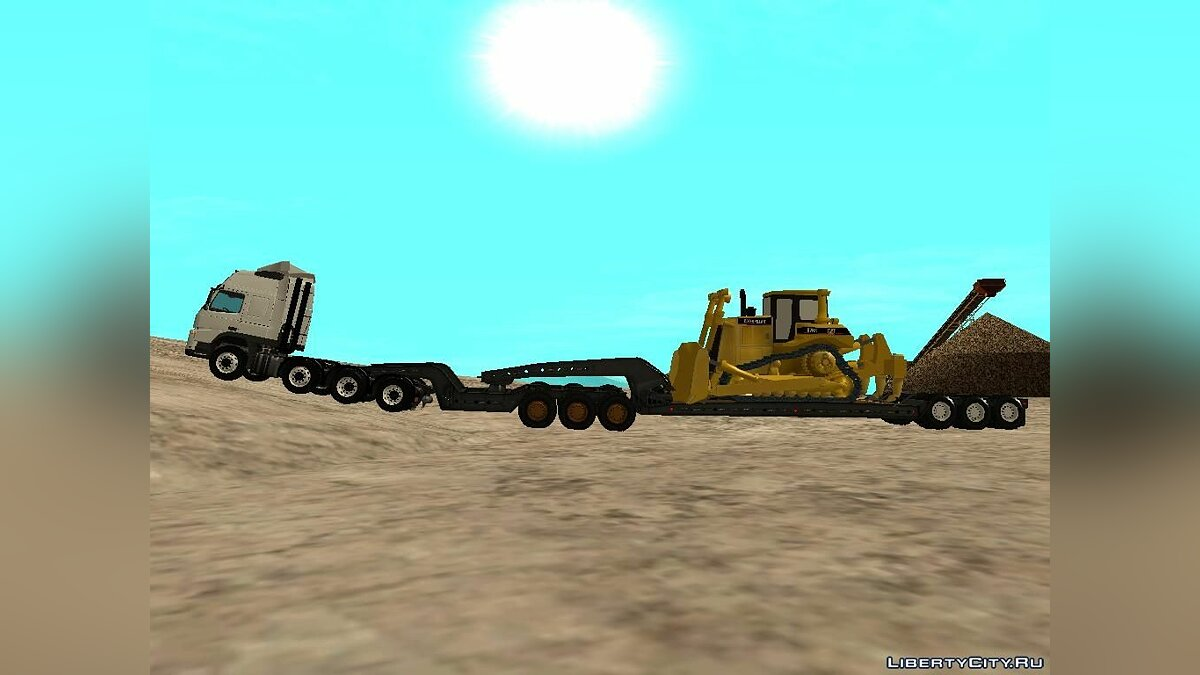 Volvo FM 13 8x4 Trailer Road Train для GTA San Andreas - скриншот #4