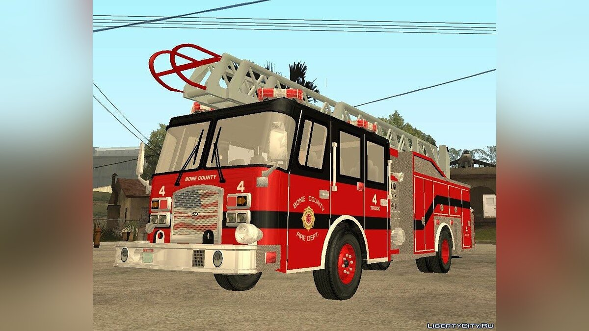 Pierce Arrow XT Bone County Ladders Fire Department для GTA San Andreas