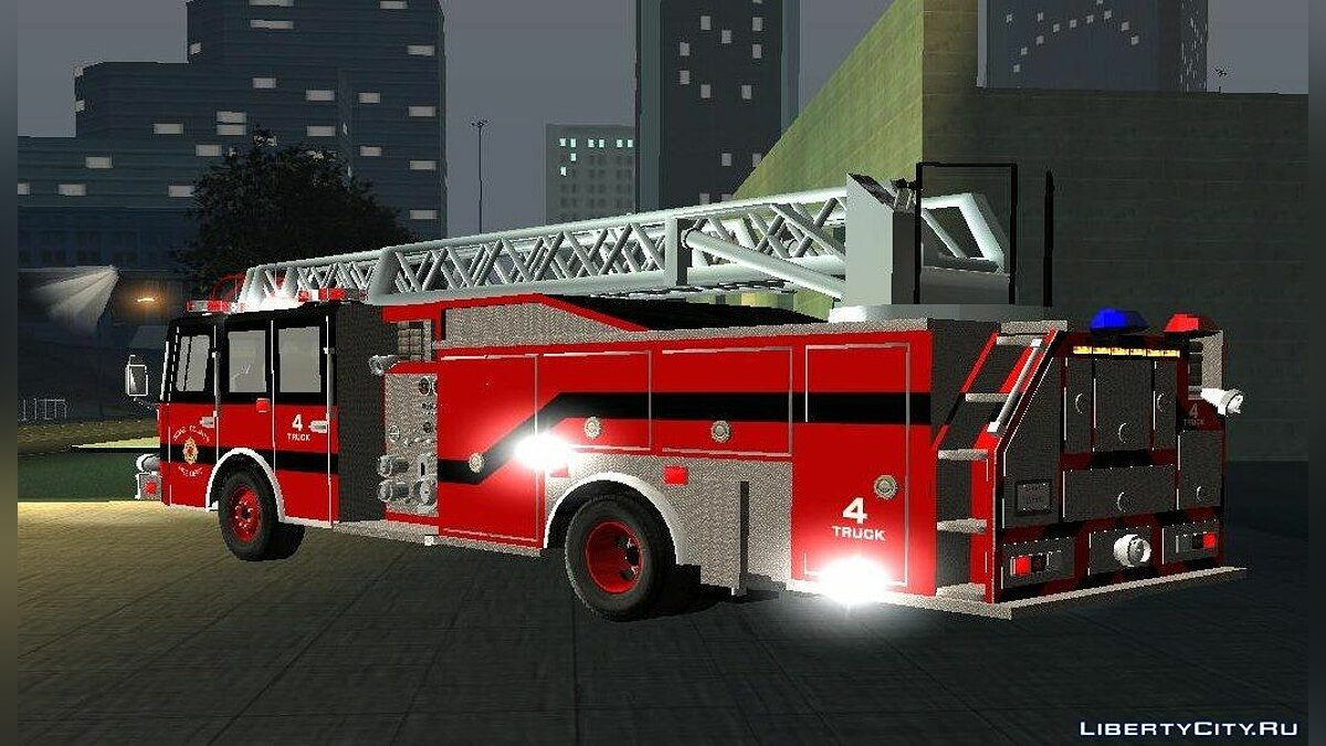 Pierce Arrow XT Bone County Ladders Fire Department для GTA San Andreas - скриншот #3