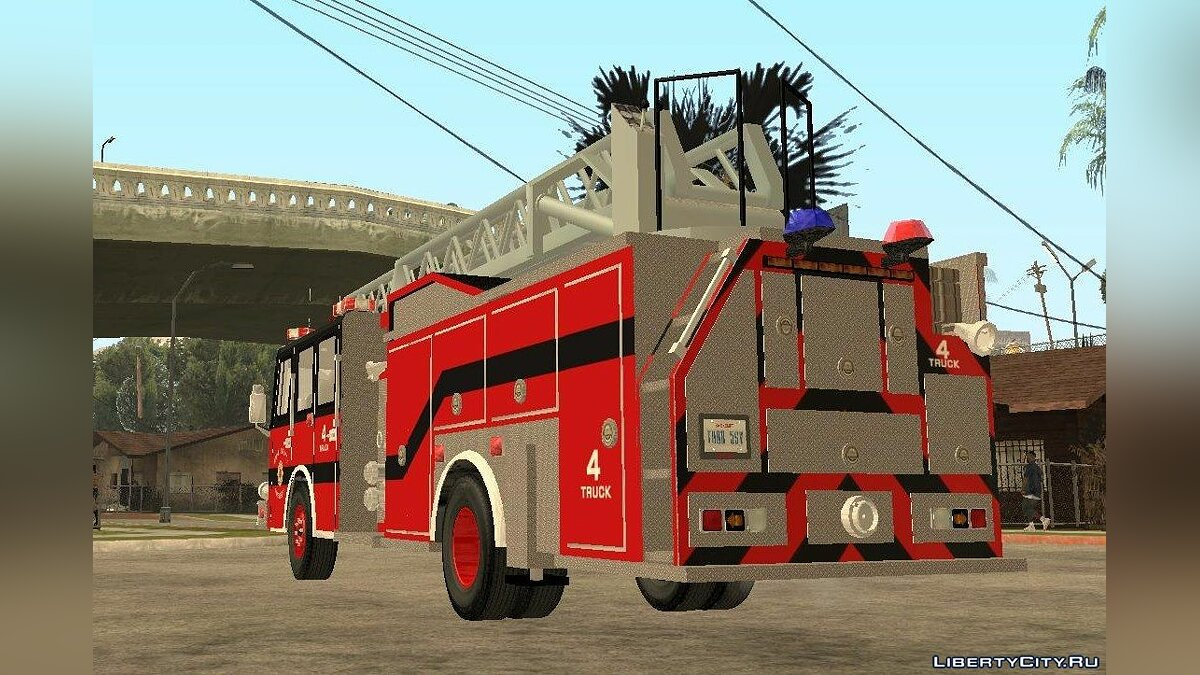 Pierce Arrow XT Bone County Ladders Fire Department для GTA San Andreas - скриншот #4