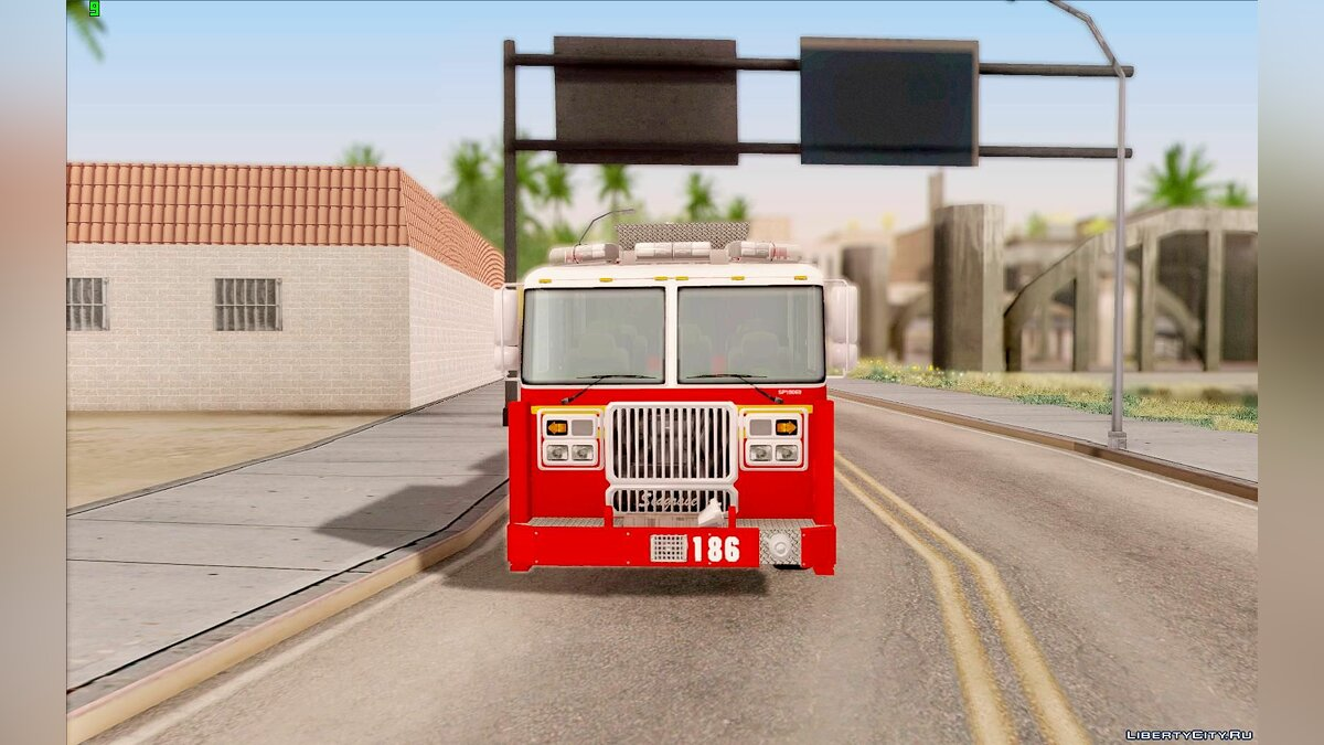 ��рузовик Seagrave Marauder F.D.N.Y. Tower Ladder 186 для GTA San Andreas