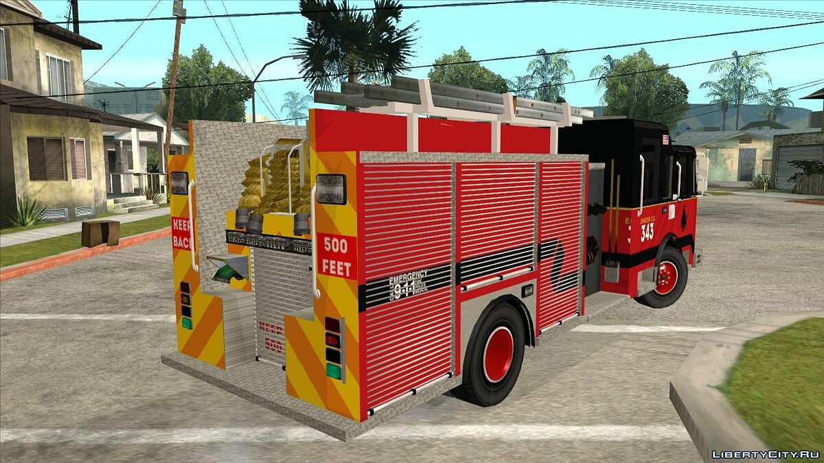 Грузовик Pierce Commercial Rescue Engine для GTA San Andreas