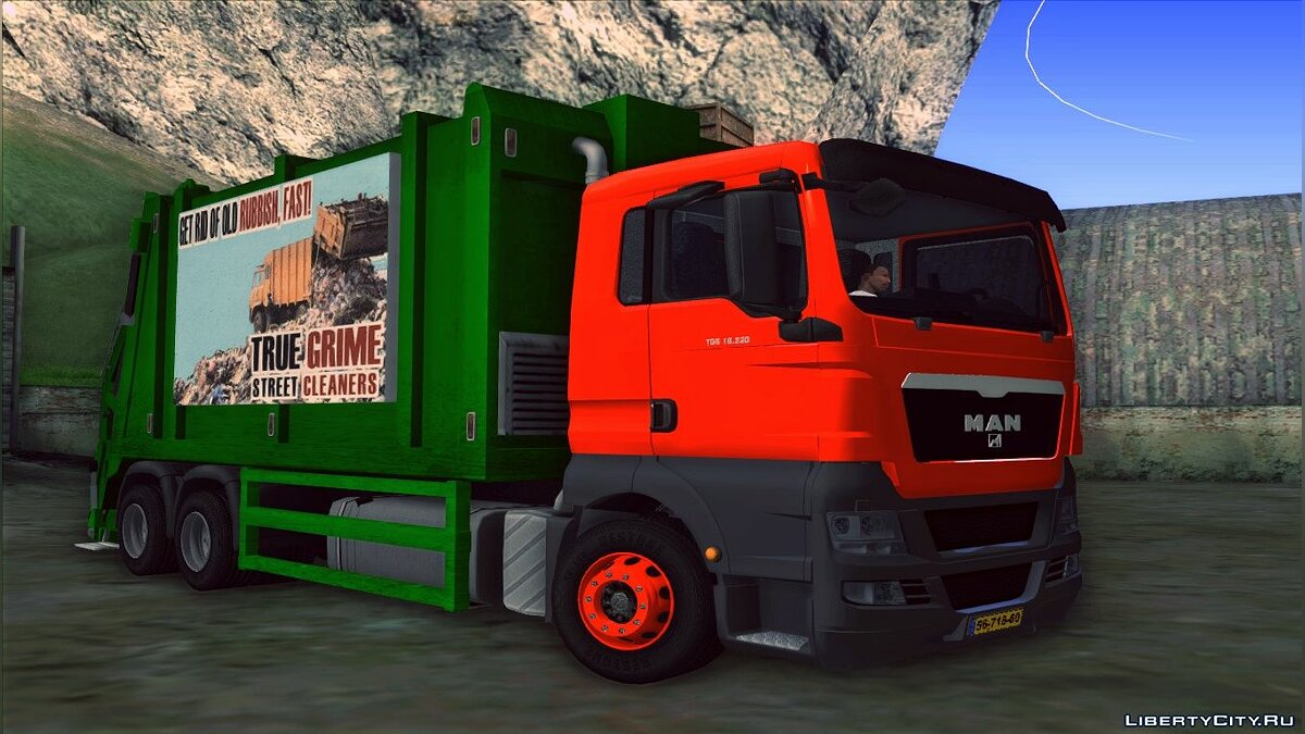 MAN TGS 320 Trash Truck для GTA San Andreas - скриншот #3