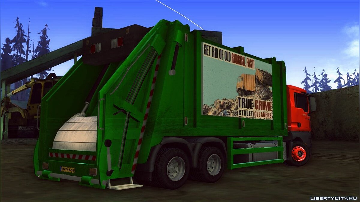 MAN TGS 320 Trash Truck для GTA San Andreas - скриншот #9