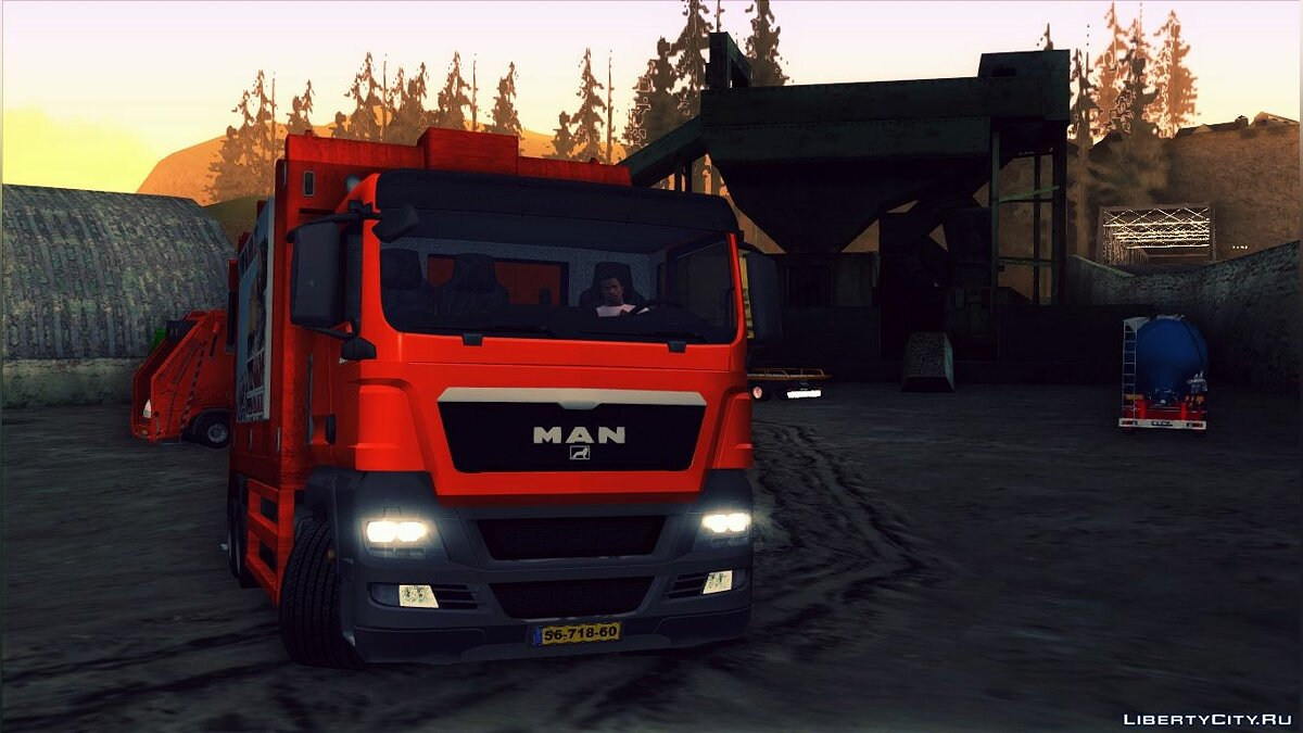 MAN TGS 320 Trash Truck для GTA San Andreas
