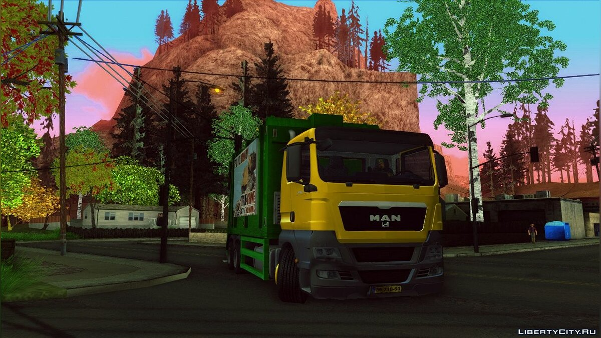 MAN TGS 320 Trash Truck для GTA San Andreas - скриншот #2