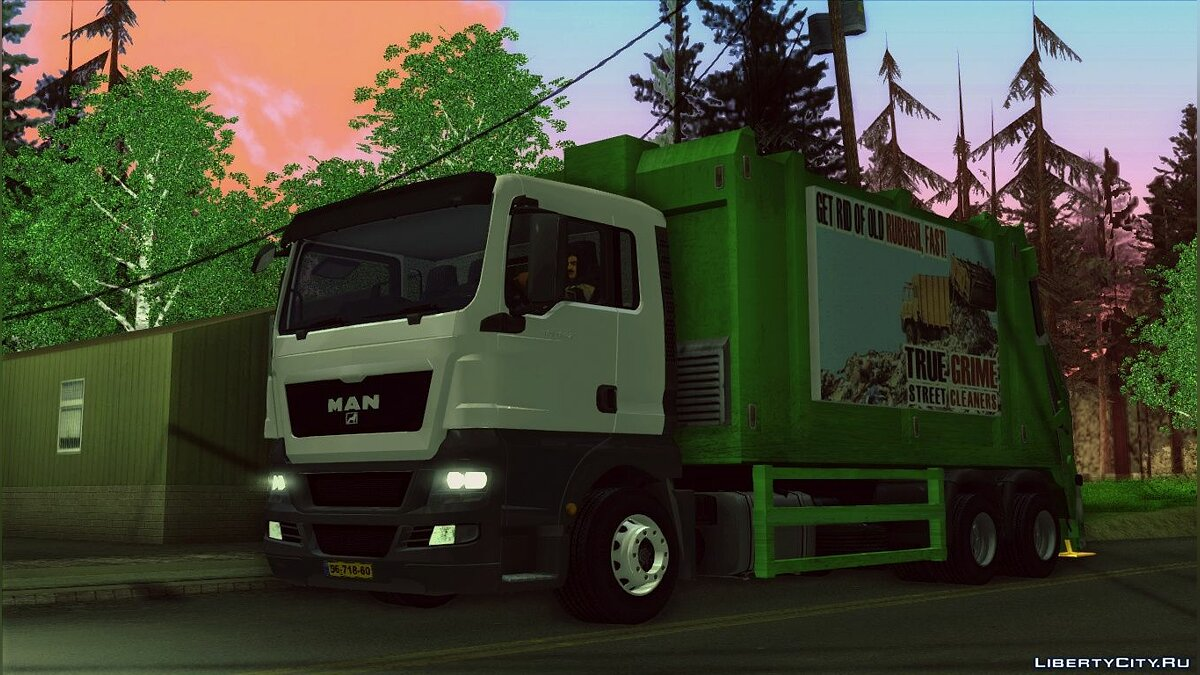 MAN TGS 320 Trash Truck для GTA San Andreas - скриншот #4