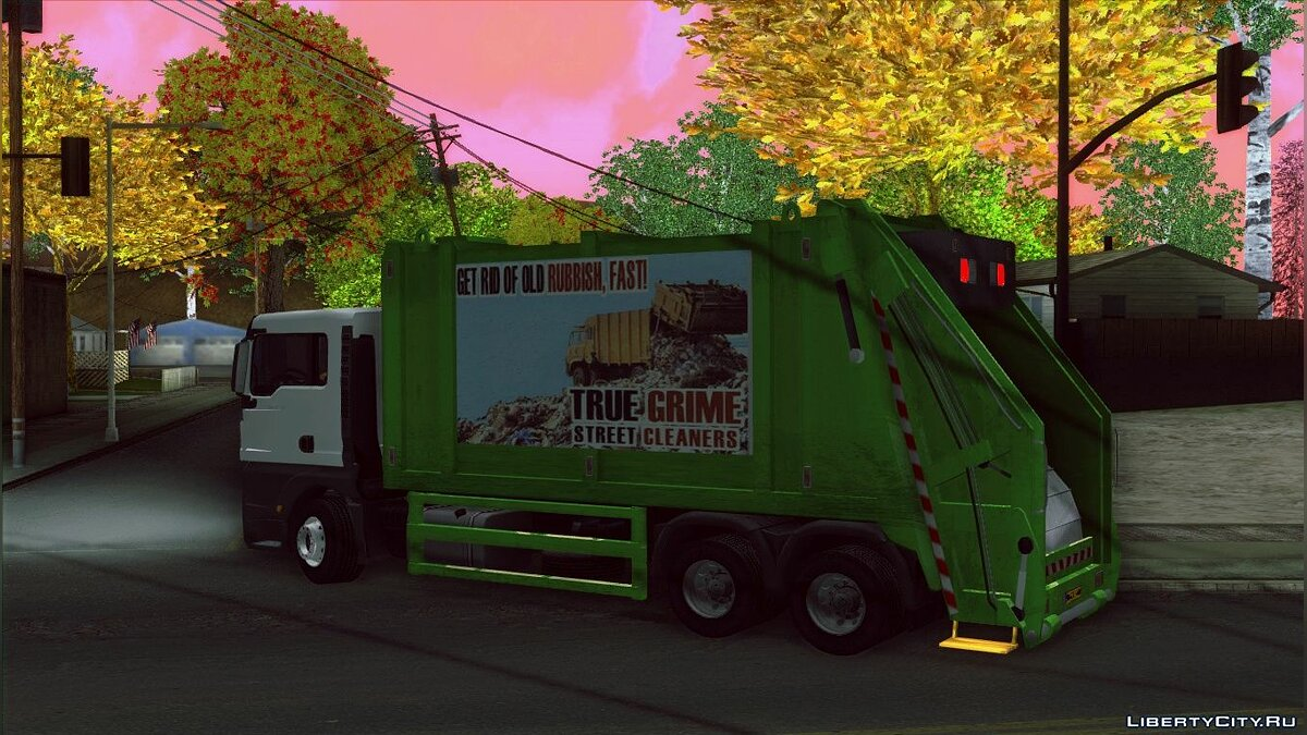MAN TGS 320 Trash Truck для GTA San Andreas - скриншот #7