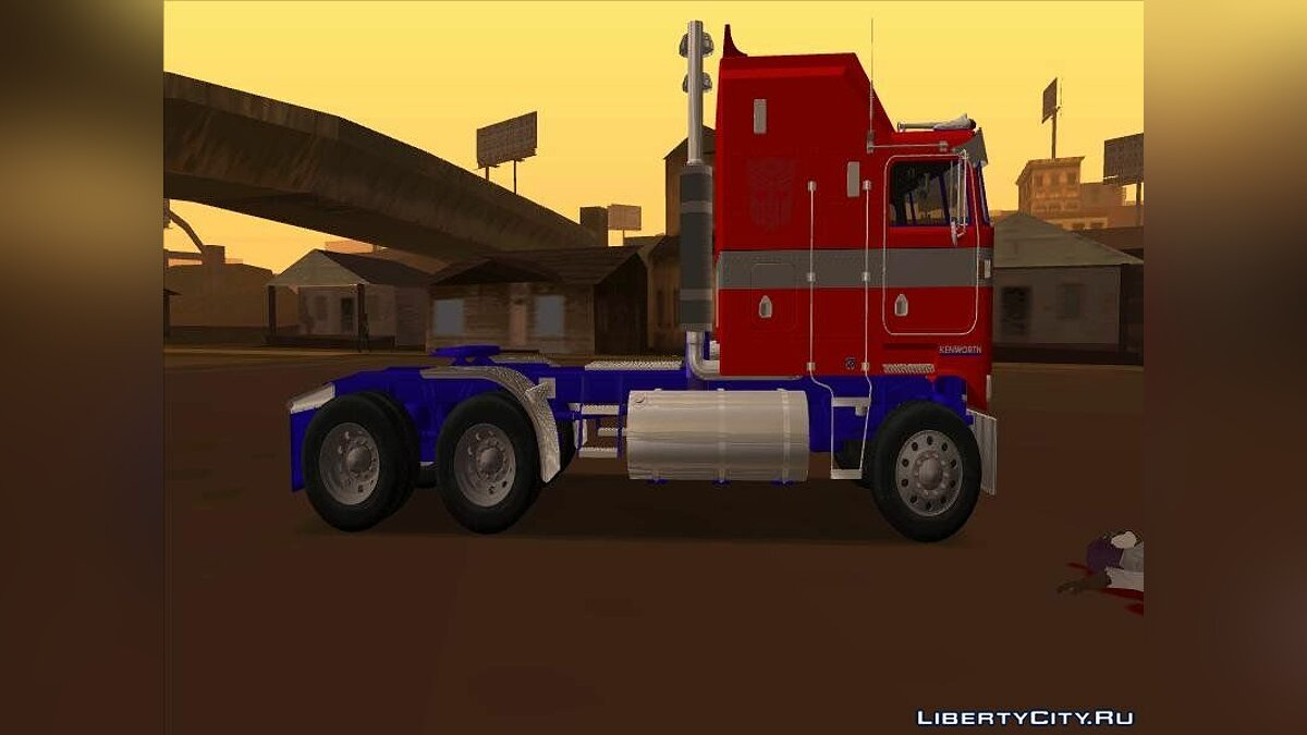 Грузовик Optimus Prime Repintado Kenworth K100 для GTA San Andreas
