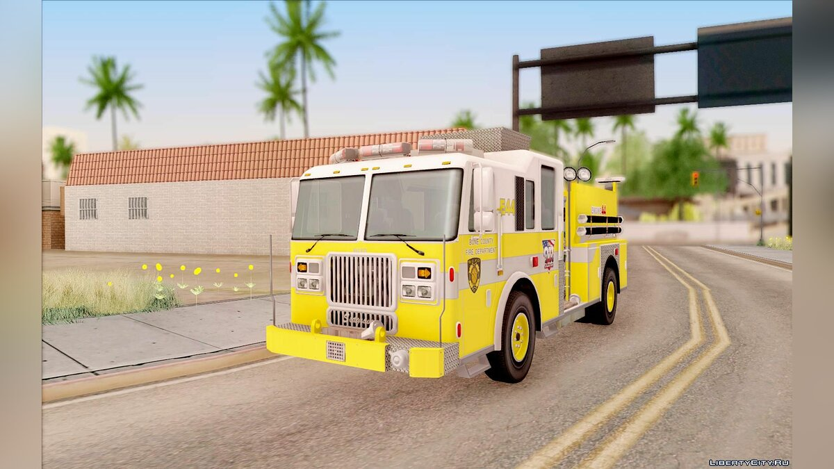 Seagrave Marauder II BCFD Engine 44 Yellow для GTA San Andreas