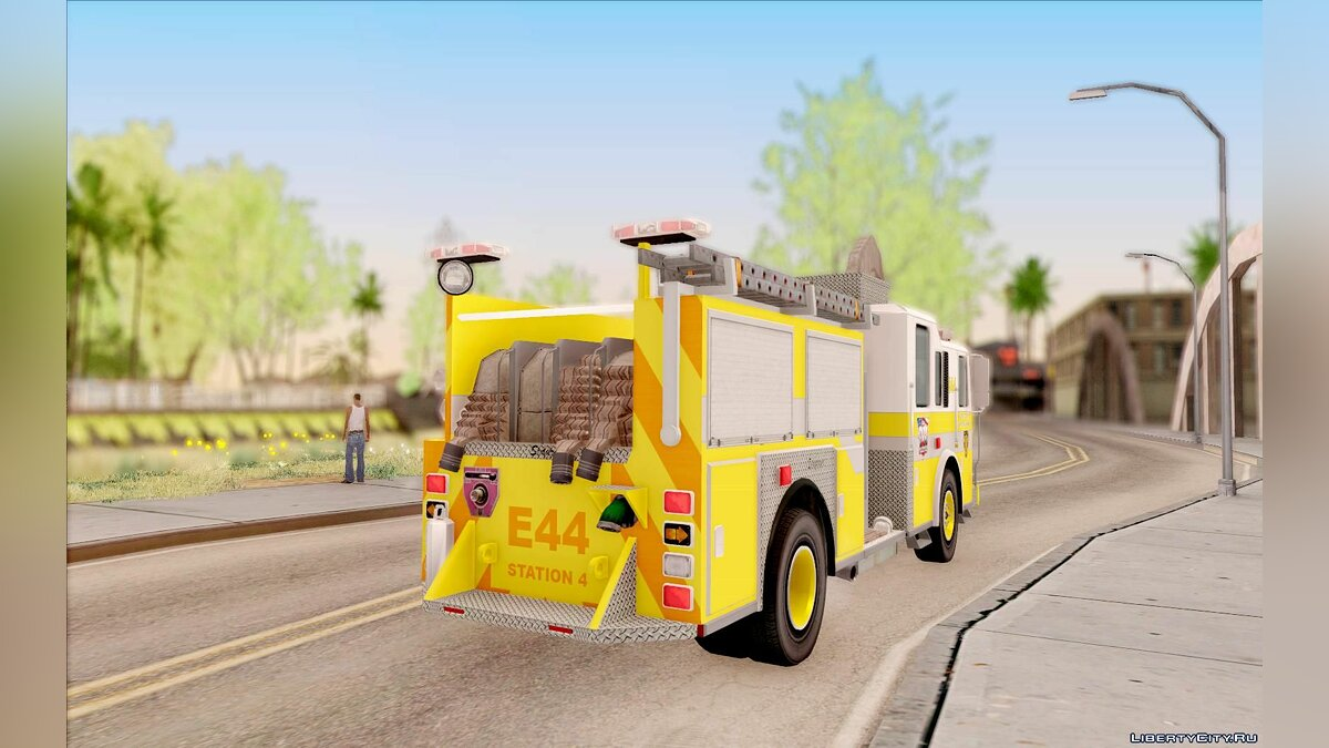 Seagrave Marauder II BCFD Engine 44 Yellow для GTA San Andreas - скриншот #2