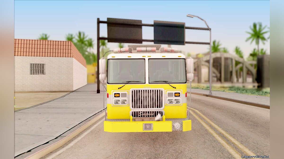 Seagrave Marauder II BCFD Engine 44 Yellow для GTA San Andreas - скриншот #3