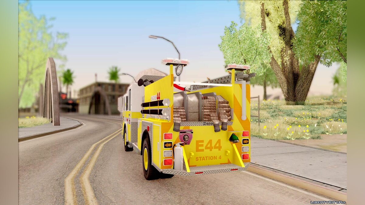 Seagrave Marauder II BCFD Engine 44 Yellow для GTA San Andreas - скриншот #5