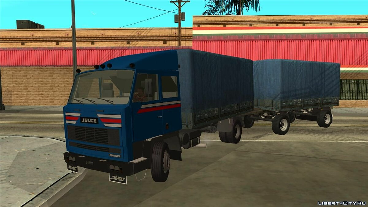 Jelcz 415 with a trailer Autosan для GTA San Andreas